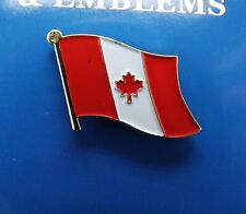 BRAND NEW Lapel Pin Canada Flag Maple Leaf Red White Enamel 1""