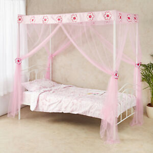 Kids Bed Canopy for Girls Mosquito Net Bed Tent Princess Pink Bedroom Birthday