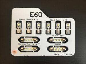 6000K 10X LED Interior Light Kit for BMW E60 5 Series 525i 528i 535i 550i 04-10