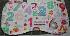 New Flannel Burp Cloths Large Soft 2 Layer Handmade numbers insects girl