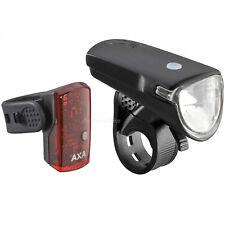 AXA GREENLINE 35 FAHRRAD LICHT SET USB SCHEINWERFER LED AKKU FRONT LEUCHTE STVZO