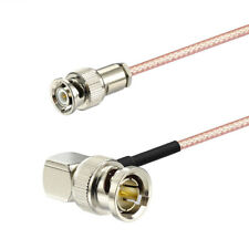Mini Bnc Male to 90 Deg Bnc Male 75ohm Rg179 Cable 60cm for Hd Sdi Vedio Camera