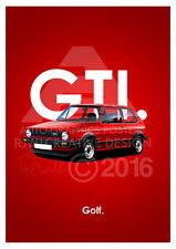 VW Golf GTI A3 Advert Poster