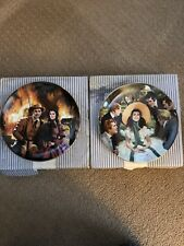 Set Of Two Gone With The Wind Bradford Exchange Rogers Plates In Box With Coa's