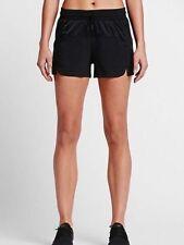 NWT Nike Women's Bonded Sportswear Shorts 805476 010 Black Size XL $65