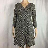New Stitch Fix 41 Hawthorn Black and White Polka Dot Dress NWT