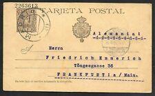 Spain Postal Card Madrid to Frankfurt/Main, Germany, Cover 1903