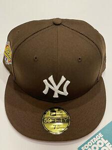 NEW ERA COOPERSTOWN NEW YORK YANKEES 1996 WORLD SERIES PATCH HAT CAP BROWN 7 3/8