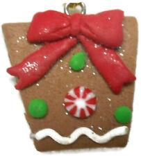 Plastic Heart Present Gift Ornament Looks Like A Cookie Tree Decor
