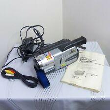 Sony Dmc-Trv130 8mm Digital 8 Handycam Video Camera Camcorder w/ Manual & Cables