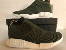 39cbf0189 Adidas Nmd CS1 Pk Primeknit Boost Night Cargo Tan Leather Men B37638 Size 9