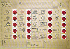Gs-080 350th Anniversary of the Postmark Generic Smilers Stamp Sheet