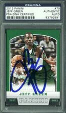 Celtics Jeff Green Authentic Signed Card 2012 Panini #79 PSA/DNA Slabbed