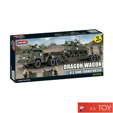 Oxford Block Brick DRAGON WAGON US TANK TRANSFORTER M-4 Brick for Mania BM35218