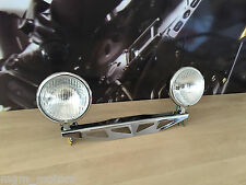 Staffa con fari Spotlight Honda Shadow Vt600 Dragstar Marauder Dual Headlight