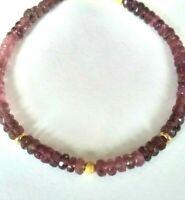 Pink Turmalin Armband, 14 Karat Gelbgold