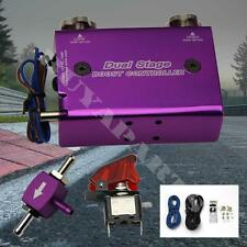 NEW DUAL STAGE ELECTRONIC ADJUSTABLE MANUAL GAUGE TURBO BOOST CONTROLLER PURPLE
