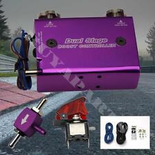 Purple Adjustable Turbo Dual Stage Gauge Manual Boost Controller Fit Universal