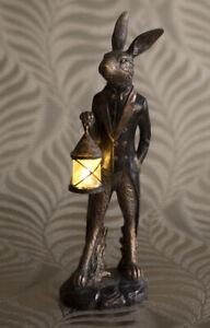 Debon Hare Statue Ornament Lantern Holder Lamp