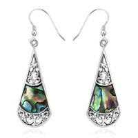 Abalone Shell Dangle Drop Earrings 925 Sterling Silver Fashion Jewelry For Her
