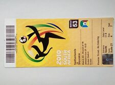 2010 South Africa World Cup ticket. Netherlands v Slovakia
