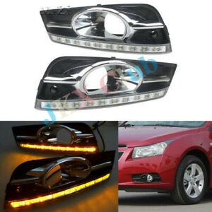 LED DRL Daytime Running Light Driving Lamp c Fit For Chevrolet Cruze 2009-2014