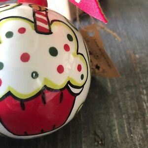 GLORY HAUS, Happy Birthday Jesus Ball Ceramic Christmas Ornament, Laura Kirkland