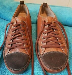 CLARKS NEW TRIP TWO TONE BROWN LEATHER RETRO TRAINERS SHOES UK 7 EURO 41 (NEW)