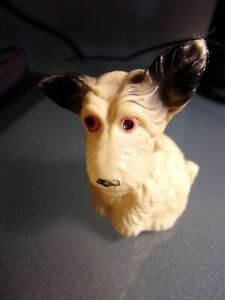"Vintage Celluoid Scottish Terrier Ears Up 2"" Tape Measure~Japan"