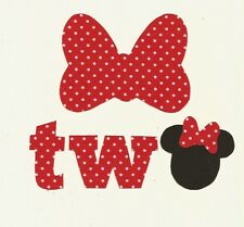 Minnie Mouse 2nd Birthday Iron On Fabric Applique