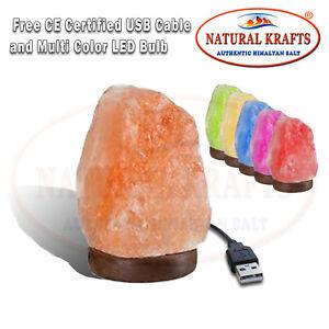 HIMALAYAN SALT LAMP USB MIX SHAPE ROCK SALT USB LIGHT MULTI COLOUR