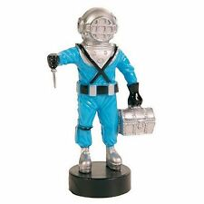 Blue Deep Sea Diver with Air Outlet Aquarium Ornament Bubbler Decoration
