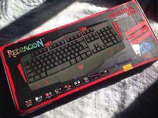 Redragon ASURA K501 USB Gaming Keyboard, 7 Color Backlight Illumination, 116 Sta