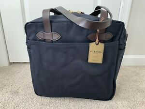 FILSON RUGGED TWILL TOTE BAG WITH ZIPPER NAVY NWT