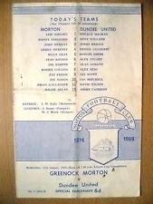 1969 League Cup- GREENOCK MORTON v DUNDEE UNITED