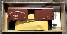 Athearn Bev-Bel 1487 GULF MOBILE OHIO 40' Boxcar GMO GM&O 5462 BLT 6-54 Kit