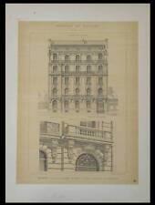 PARIS, 84 AVENUE CHAMPS ELYSEES - 1895  - 2 GRANDES LITHOGRAPHIES- FASQUELLE