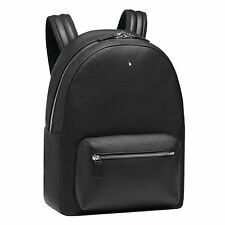 Backpack small Montblanc Meisterstuck Soft Grain 116736 in black leather unisex