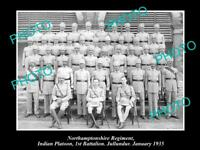 OLD 8x6 HISTORIC MILITARY PHOTO OF NORTHAMPTONSHIRE REGIMENT 1st BATTALION 1935