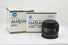 Minolta AF 50mm f/1.7 AF Prime Lens - Crossed XX Lens and Box