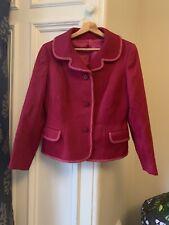 VVGC Vintage 1970s Cerise Magenta Pink Wool Jacket Size UK 12-14
