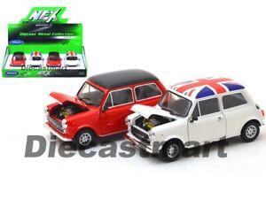 Welly 1:24 Mini Cooper 1300 Diecast Model Car Display Red/ White UK Flag 22496