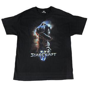 Jinx Starcraft II 2 Blizzard Video Game Vtg Promo Black T-Shirt Size XL