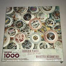 New Sealed Hallmark Springbok Puzzle, Souvenir Plates From Sea to Sea, 1000 pc