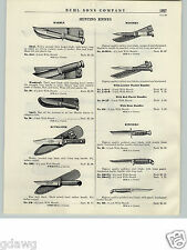 1940- 50's PAPER AD Marble Hunting Knife Knives Kutmaster Kinfolks Axe Estwing