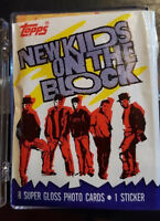 NEW KIDS ON THE BLOCK TRADING CARDS COMPLETE SET TOPPS SERIES 1 ONE  w STICKERS