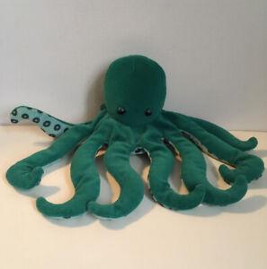 Vintage Folkmanis Octopus Plush Hand puppet Aqua Pretend Toy Sea Creature