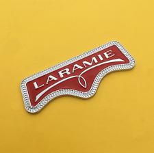 3D Chrome&Red Metal LARAMIE Rear Trunk Tailgate Emblem Nameplate Sticker Badge