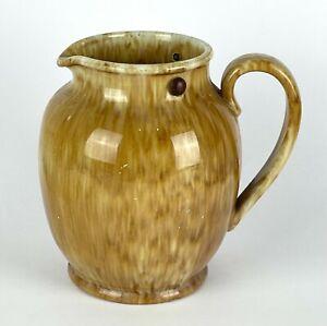 Deco 1930s BAKEWELLS Australian Pottery Mottled Brown Drip Glaze ELECTRIC JUG