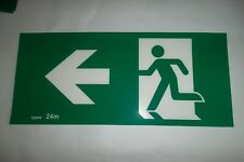 """Emergency Exit Light Running Man LEFT facing   Replacement INSERT ONLY """"New"""""""